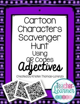 Cartoon Characters Scavenger Hunt w/QR Codes