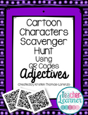 Cartoon Characters Scavenger Hunt w/QR Codes