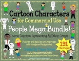 Cartoon Clip Art People Mega Bundle for Commercial Use