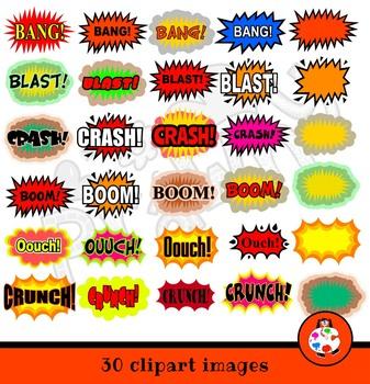 Cartoon Comic Sound Effects Clip Art