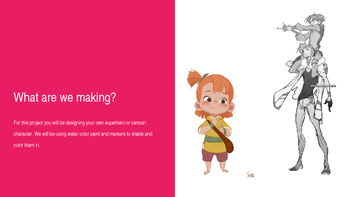 Cartoon Design PowerPoint Project (Middle School)