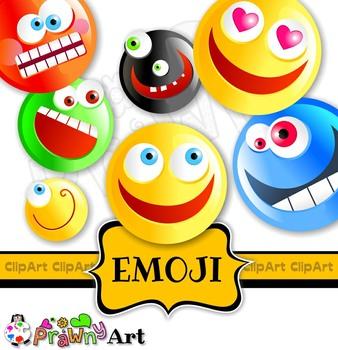 Cartoon Emoticon Smiling Face Emoji Clip Art