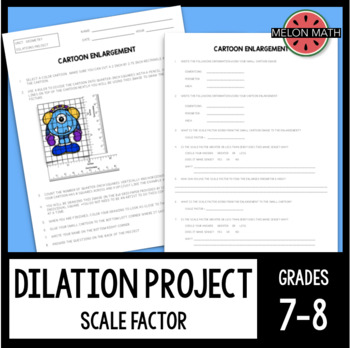 Cartoon Enlargement [Dilation/Scale Factor Project]