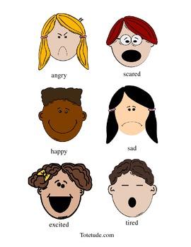 Cartoon Feelings Chart
