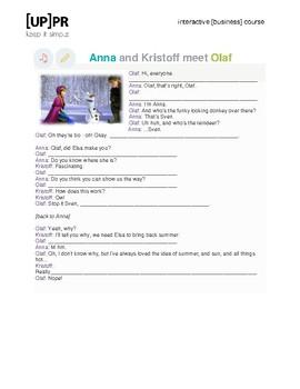 Cartoon Frozen_Anna and Kristoff meetOlaf