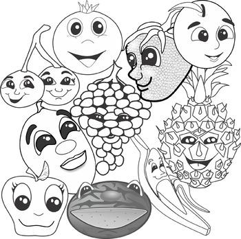 Cartoon Fruits Clip Art