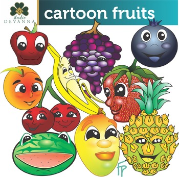 Cartoon Fruits Clip Art