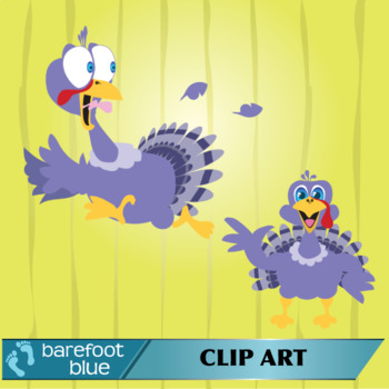 Cartoon Funny Thanksgiving Turkey Clip Art