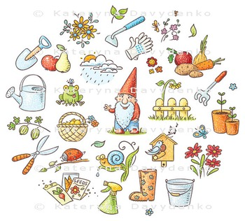 Cartoon Gardening Set