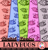 Cartoon Ladybug Grid Papers
