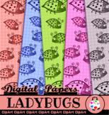 Cartoon Ladybug Grid Papers