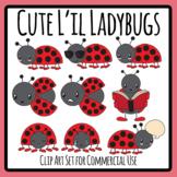 Cartoon Ladybug / Lady Bird / Lady Bug Insect Cute Characters Clip Art