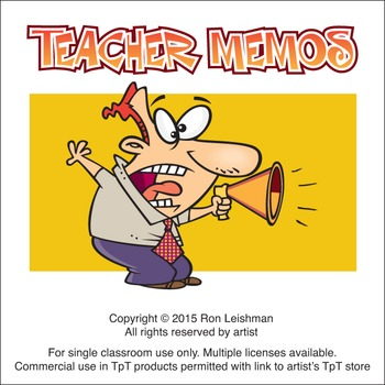 Cartoon Memos for Teachers