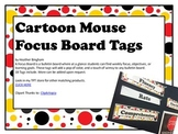 Cartoon Mouse Focus Board Tags