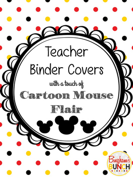 Cartoon Mouse Monthly Binders