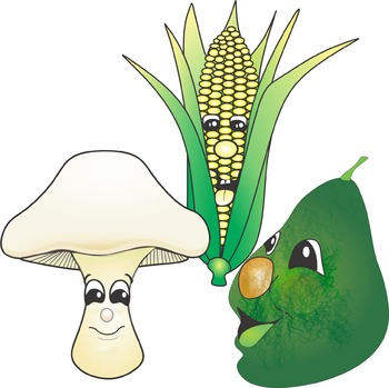 Cartoon Not So Veggies Clip Art