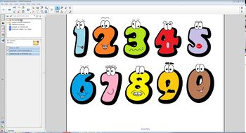Cartoon Numbers (for use on SMART Board)