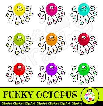 Cartoon Octopus Squid Clip Art