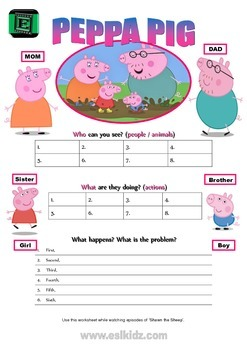 "Cartoon ""Peppa Pig"" Activity"