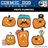 Pirate Pumpkin Clip Art - Fun Halloween Set