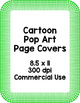 Cartoon Pop Art Page Borders {Clip Art for CU}