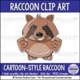 Clip Art Cartoon Raccoon