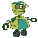 Cartoon Robot STEM Illustration Clipart