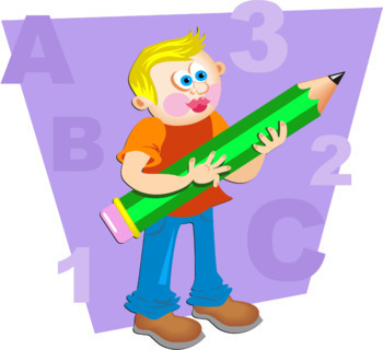 Cartoon School Boy Clip Art
