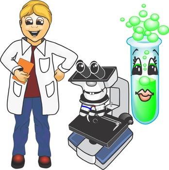Cartoon Science Clip Art