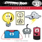 Electricity Clip Art - Science Cartoon Set