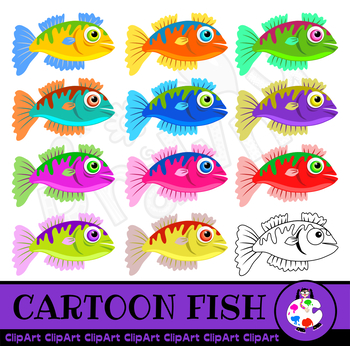 Cartoon Sea Fish Clip Art
