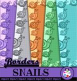 Cartoon Snail Graph Border Papers
