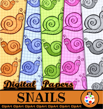 Cartoon Snail Graph Papers