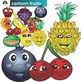 Cartoon Style Fruit And Vegetable Clip Art Bundle
