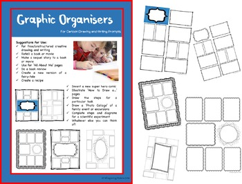 Cartoon Templates/Graphic Organisers for Writing and Drawing Prompts
