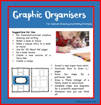 Cartoon Templates/Graphic Organisers for Writing and Drawi