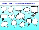 Cartoon Thought Bubbles and Speech Bubbles - Clip Art