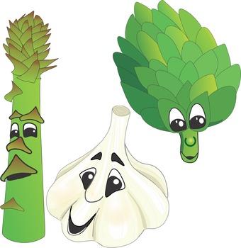 Cartoon Vegetables Clip Art