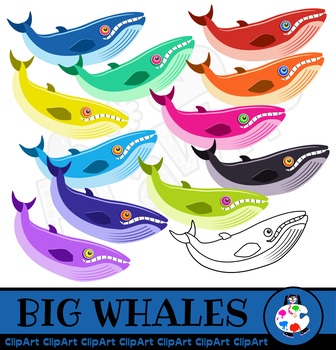 Cartoon Whale Clip Art