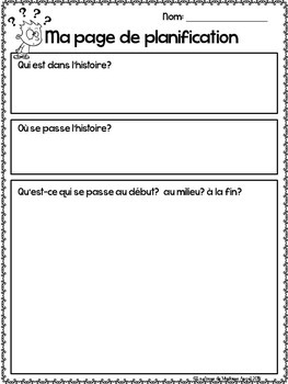 Cartoon Writing Prompts in French BUNDLE