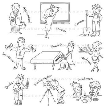 Cartoon Profession Set