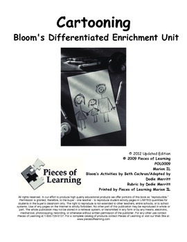 Cartooning - Differentiated Blooms Enrichment Unit