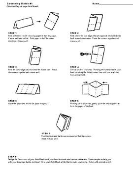 Cartooning Sketchbook form single sheet of paper
