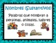 Mini posters on Nouns in Spanish