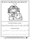 Carve a Pumpkin - Name Tracing & Coloring Editable Sheet -