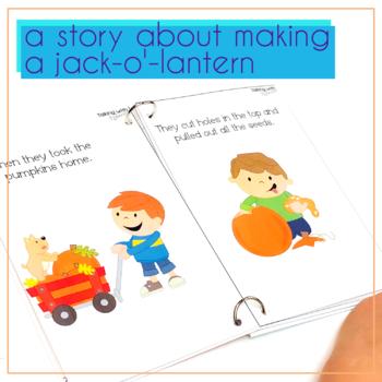 Carving Time Pumpkin Preschool Vocabulary Book