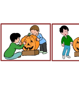 Carving a Pumpkin Sequence Story