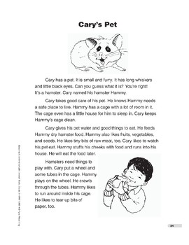Cary's Pet (Lexile 450)