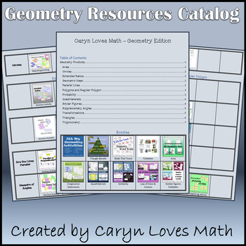 Caryn Loves Math - Store Catalog - Geometry Edition