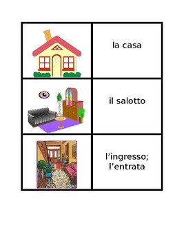Casa (Full House in Italian) Concentration games